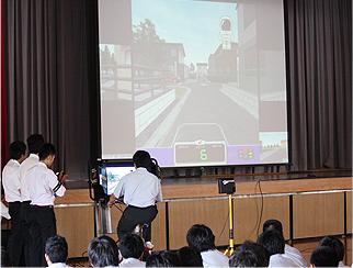 交通安全教室の様子