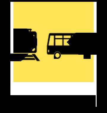 電車やバスの中は×