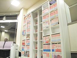 1500冊以上のマンガコーナー
